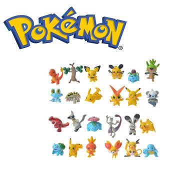 Nowa gorąca sprzedaż Pokémon Elf Model Pokemon zabawka Pikachu Squirtle Mewtwo Greninja figurka z tworzywa sztucznego Groudon prezent urodzinowy dla dzieci tanie i dobre opinie TAKARA TOMY 4-6y 7-12y 12 + y 18 + CN (pochodzenie) Unisex about 4cm PIERWSZA EDYCJA Peryferyjne Pokemon toys Japonia Produkty na stanie