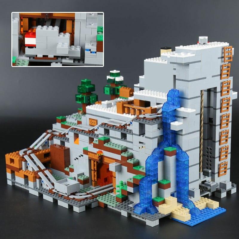 2304PCS Mein Welten Die Mountainglys Cave SPIELZEUG Kompatibel Legoinglys Stadt 21137 Stapeln Block Modell Gebäude Kit Blöcke Ziegel - 6