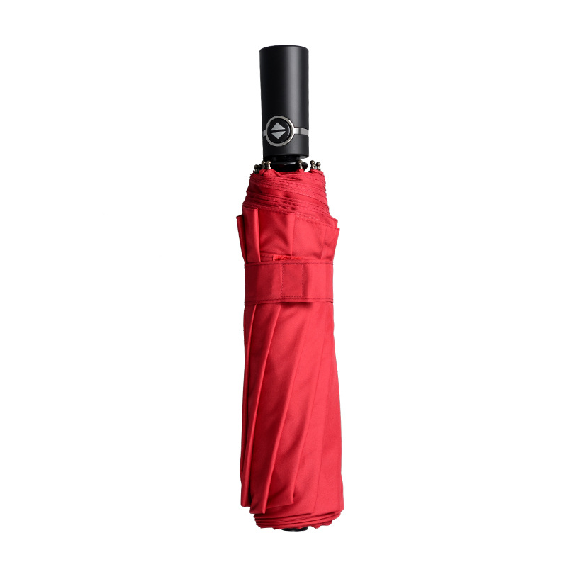 Factory Direct Selling Ultra Large Umbrella Automatic Folding Umbrella Personalized & Creative Shang Wu San Customizable Logo Gi