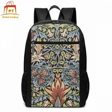 William Morris Fabric Backpack William Morris Fabric Backpacks Shopper High quality Bag Multifunctional Bags william morris 100 postcards