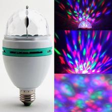 E27 3 Вт 100-240 в цветной Авто вращающийся RGB светодиодный светильник вечерние лампы для дискотеки для KTV вечерние украшения фестиваля