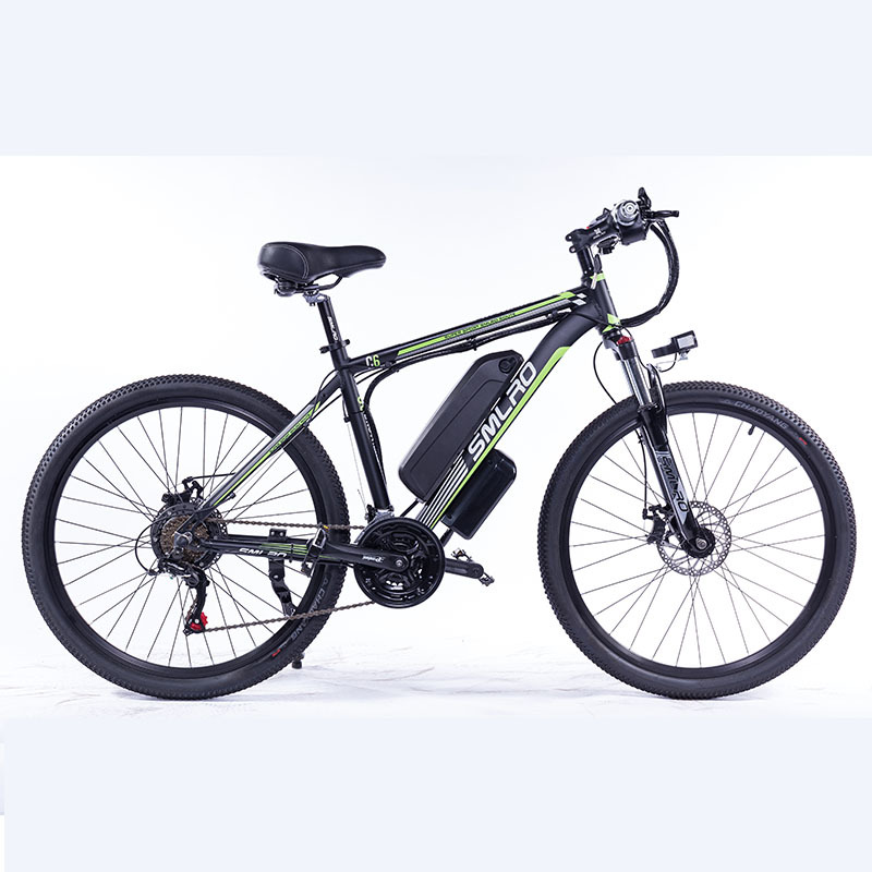 """C6 F 26""""Electric Bike with Removable 48V Lithium-Ion Battery Electric Mountain Bike Adult 350W Powerful Motor Fast Battery 5"""