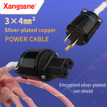 xangsane HiFi Oxygen-Free Copper Silver-plated 3*4mm² Audio US/EU Power Cable Decoder