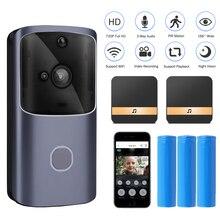 Intercomunicador de puerta de vídeo con WIFI HISMAHO 720P HD inalámbrico inteligente hogar IP puerta campana Cámara alarma de seguridad IR visión nocturna