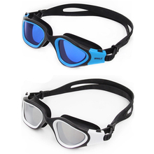 Professional Swimming Goggles Adults Waterproof Swim UV Anti Fog Adjustable Glasses Electroplating Polarized