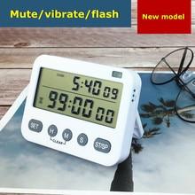 Timer reminder Timer can silent vibration dual-screen clock Kitchen baking timer