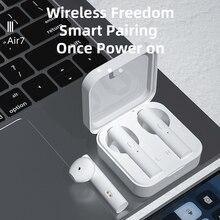ROCKSTICK AIR 7 bezprzewodowe słuchawki Mini TWS słuchawki douszne Bluetooth z pudełkiem do ładowania dla Xiaomi Samsung wszystkie smartfony