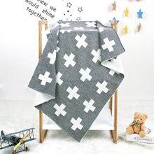 Детское вязаное одеяло для новорожденных пеленка конфетного