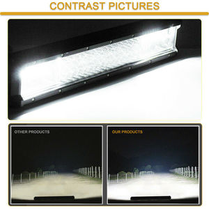 Image 5 - Quad שורה 4/7/17/20/23/28/36 אינץ LED עבודת אור בר Offroad טרקטורונים 12V 4X4 ספוט מבול עבור SUV משאית ערפל LED נהיגה אור LED בר