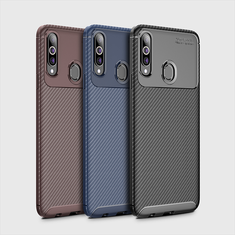 Carbon Fiber Cases For Samsung A20S Case High Quality TPU Shookproof Phone Back Cover Coque For Samsung Galaxy A10S A20S Fundas
