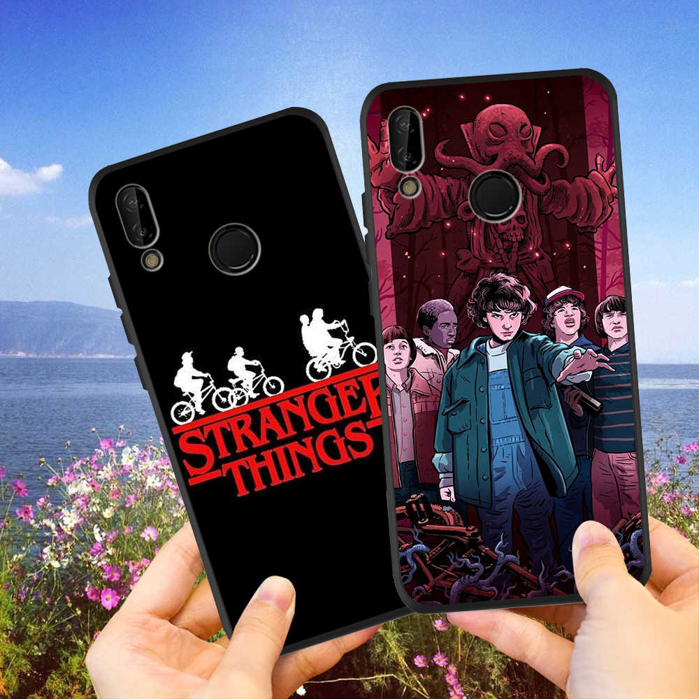 Phone Case Stranger Things For Huawei p20 lite P30 Pro Mate 20 Lite Honor 8X 10 20i V20 P Smart Black Soft Silicone Etui Cover