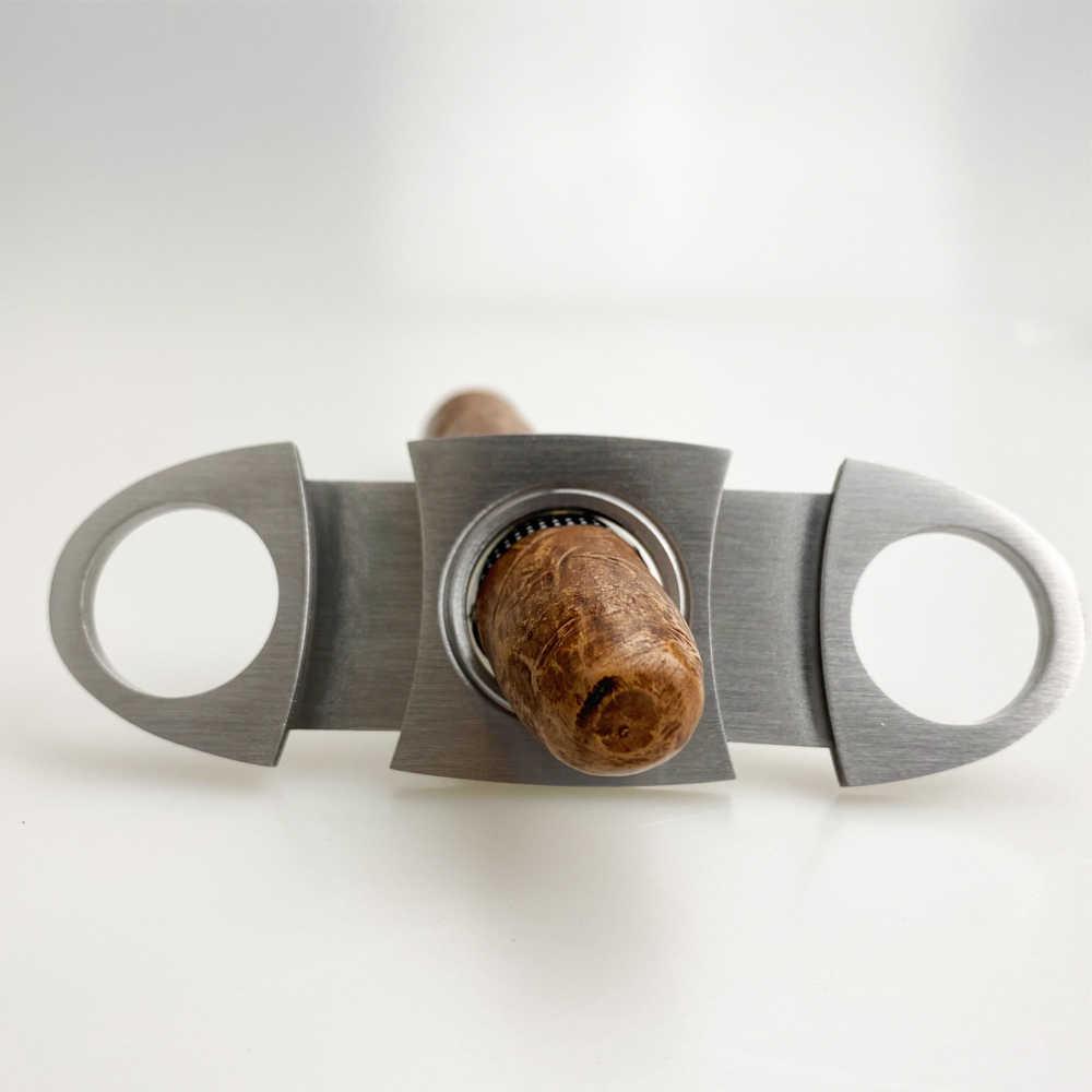 COHIBA Lebih Ringan Pemotong Cerutu Aksesoris Set Logam Windproof Butane Gas C Torch Korek Api Stainless Steel Tajam Cigar Cutter