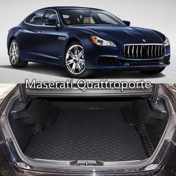 Lsrtw2017 Leather Car Trunk Mat Cargo Liner for maserati quattroporte 2013 2014 2015 2016 2017 2018 2019 interior accessories