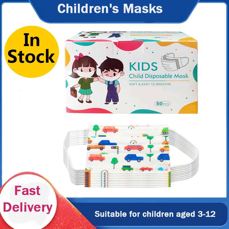 Children's Mask Fast Delivery Safety Comfortable Breathable Care Health Child Kids Face Mask Disposable Blue Mouth Mask In Stock