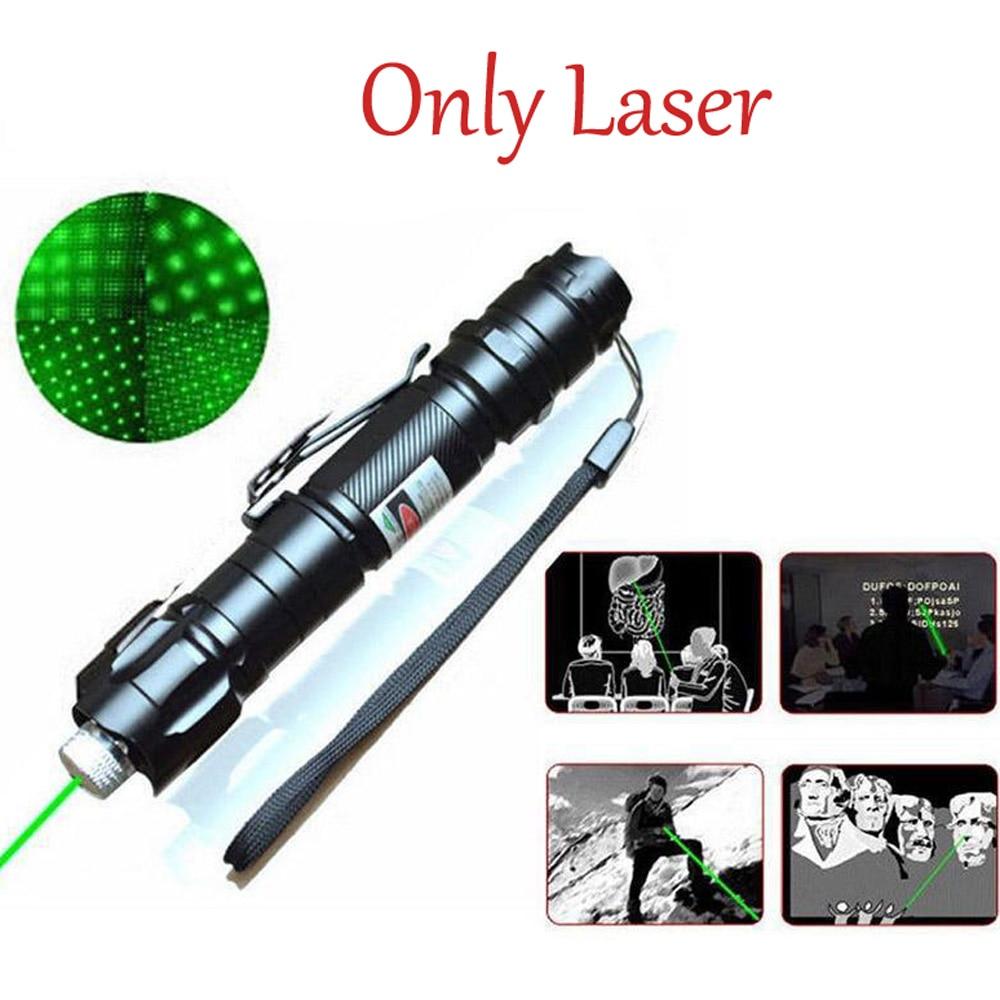 532nm 8000M High Power Green Laser Pointer  Adjustable Focus Star Shape Light Pen Lazer Beam Military Green Lasers