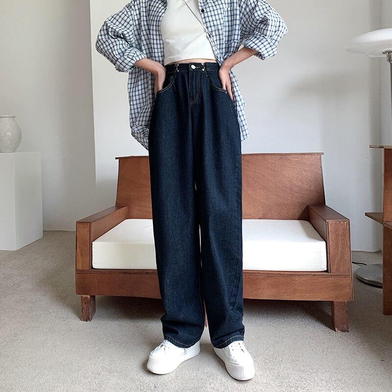 CYJR для женщин с высокой талией Maillot De Bain Femme свободные джинсы с аппликацией в виде Узкие Широкие джинсовые штаны 2020 сезон осень зима; Новинка; Принт в форме сердца, штаны на каждый день, модные