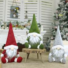 2020 Christmas Faceless Doll Ornament Nordic Land God Santa Claus Plush Sitting Doll New Year Home Window Table Decoration(China)