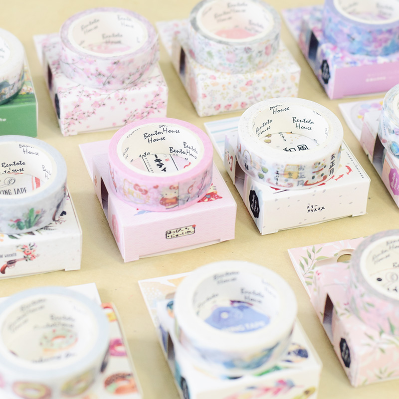 JIANWU Japan Style Pink 15mmX7m Flower Cute Washi Tape  DIY Scrapbook Decoration Diary Sticker Kawaii School Supplies