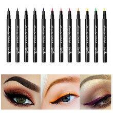 12 Colors Liquid Eyeliner Pen Waterproof Colorful Long-lasting Eye Liner Pencil Matte Black White Eyeliner Makeup Cosmetics