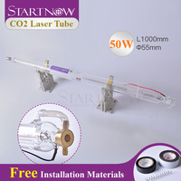 Startnow Laser Glass Tube CO2 50W 1000mm Lamp Pipe For Laser Engraver Carving Machine Accessories Cutter Marking Equipment Parts