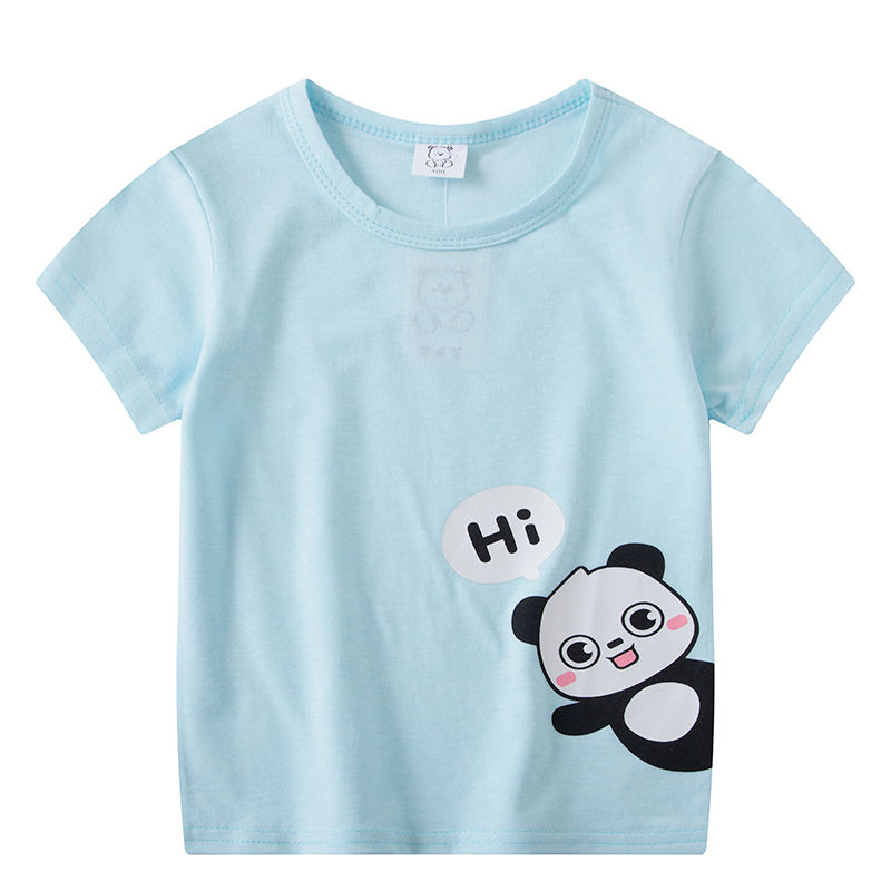 Short Sleeve T-Shirts For Boys Girl Tops Kids Clothing TShirt Size 3 5 6 7 8 Years Baby Clothes Tee Toddler Girl Summer Clothes