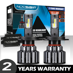 NOVSIGHT samochód 12v Led reflektor H7 LED H4 H8 H11 H7 Canbus 9006 9005 żarówka reflektor światła przeciwmgielne lampa 6000K 80W 15000 lm Led Lampada