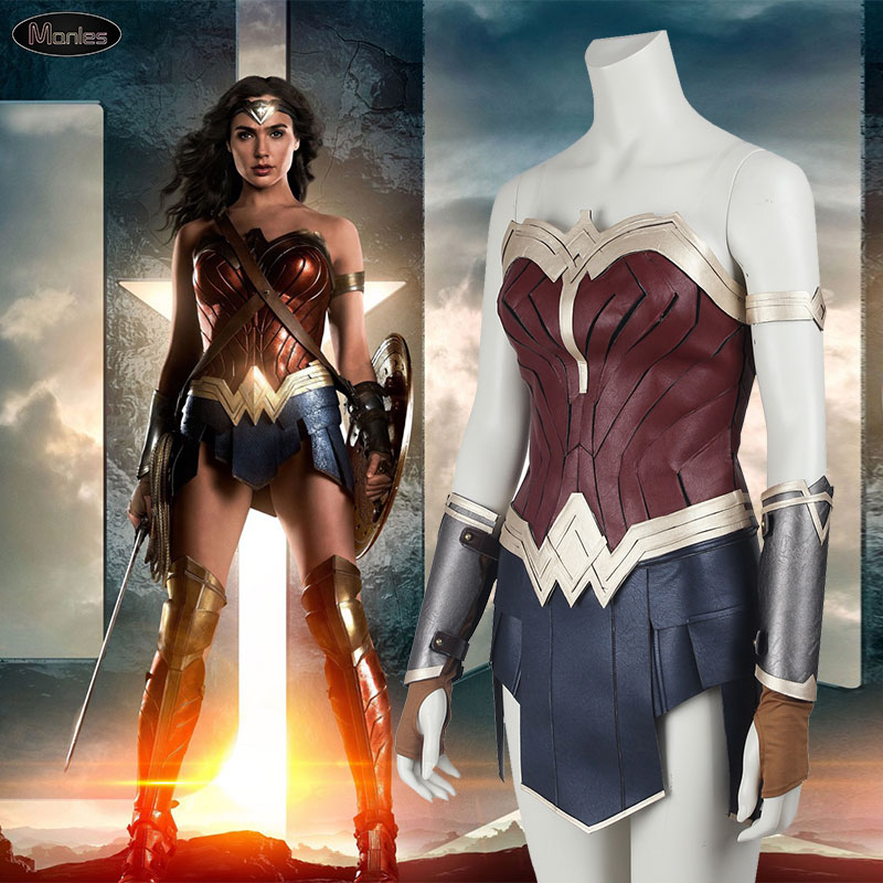 Wonder Woman Costume Justice League Diana Prince Superhero Cosplay Halloween Costume For Women Sexy Dress Skirt Disfraz Mujer
