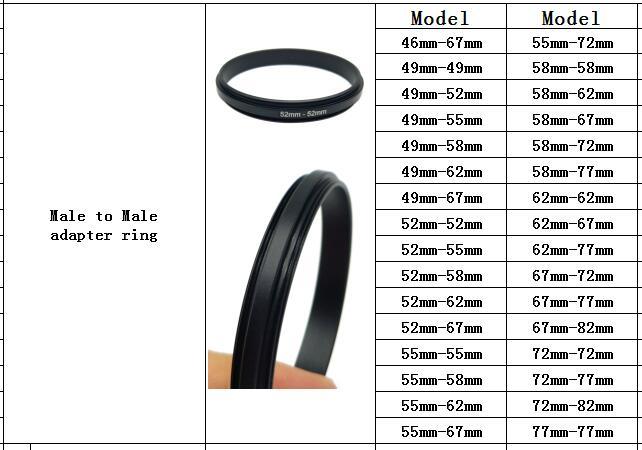Только сейчас 58-62-67-72-77-82 штекер на мужской макро обратное Кольцо адаптер для крепления объектива для удлинительных труб адаптер(32 модели выбирают