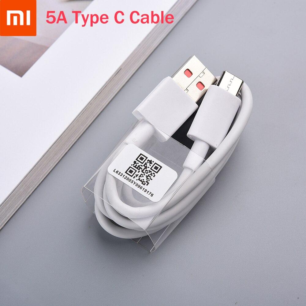 Оригинальный зарядный кабель Xiaomi Redmi Note 9 Pro Turbo, 5A, быстрая зарядка, Тип C, линия для Mi 10, Note 10 Lite, 9T Pro, Redmi K30pro