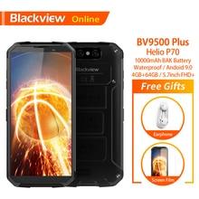 Blackview BV9500 PLUS Originalสมาร์ทโฟนที่ทนทานกันน้ำ 10000mAh 4GB + 64GB Helio P70 Android 9.0 ลายนิ้วมือ 4G