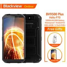 Blackview BV9500 Plus الأصلي مقاوم للماء هاتف ذكي متين 10000mAh 4GB + 64GB هيليو P70 أندرويد 9.0 بصمة 4G الهاتف المحمول