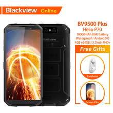 Blackview BV9500 Plus Originele Waterdichte Rugged Smartphone 10000Mah 4Gb + 64Gb Helio P70 Android 9.0 Vingerafdruk 4G Mobiele Telefoon