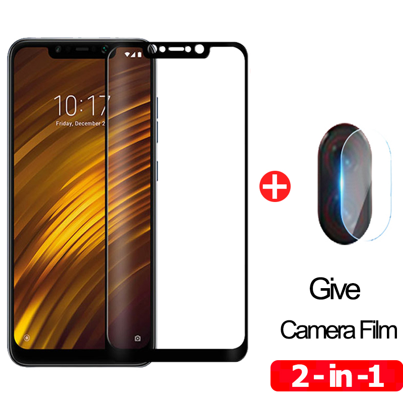Tempered Glass For Xiaomi Pocophone F1 Screen Protector Protective Xiomi Pocophone-F1 Full Cover Pocofone-F1 Poco F1 Glass Film