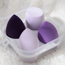4pcs Women Make Up Accessories Makeup Blender Cosmetic Puff Makeup Sponge Foundation Powder Purple Sponge Beauty Tool