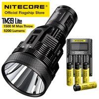 NITECORE TM39 Lite Taschenlampe Suchscheinwerfer 5200LM Strahl Werfen 1500M OLED Rettungs Aufladbare Taschenlampe mit UMS4 Ladegerät 4 Batterie