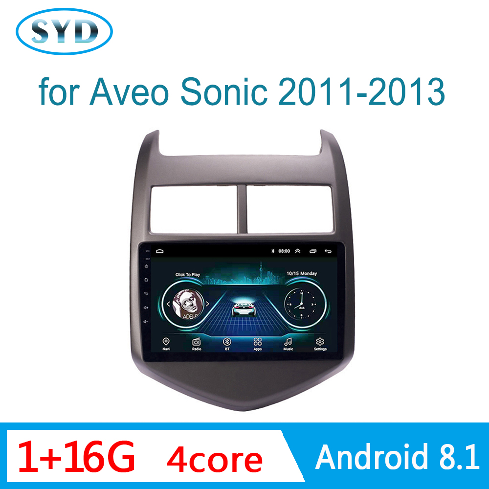 Car Radio for Chevrolet <font><b>Aveo</b></font> Sonic 2011 2012 <font><b>2013</b></font> GPS Navi Head unit Multimedia System 1 din Android 8.1 9