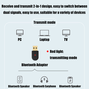 Image 4 - 2 in 1 Bluetooth 5.0 Ricevitore/Trasmettitore Senza Fili di Bluetooth Adattatore USB 3.5 millimetri AUX Con Call MIC per PC car Audio Altoparlante