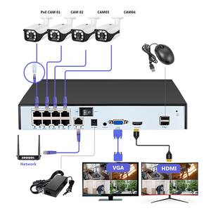 Image 3 - Fuers POE NVR 8CH 4CH Security Camera System 5MP CCTV Camera System Waterproof IR CUT CCTV Video Recorder Face Detection NVR Kit