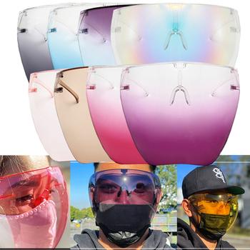 Męskie damskie okulary ochronne Faceshield okulary ochronne okulary ochronne okulary ochronne okulary ochronne okulary ochronne 2021 tanie i dobre opinie VIAJAR CN (pochodzenie) WOMEN Gogle Dla dorosłych Plastikowe tytanu UV400 Gradient 168mm Akrylowe 143mm sunglasses goggle