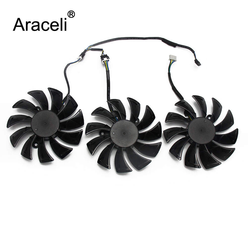 3PCS/lot Original GA92S2U DC12V 0.46A RTX2080 Ti For ZOTAC GAMING GeForce RTX 2080 2080Ti AMP Graphics Card Cooling Fan