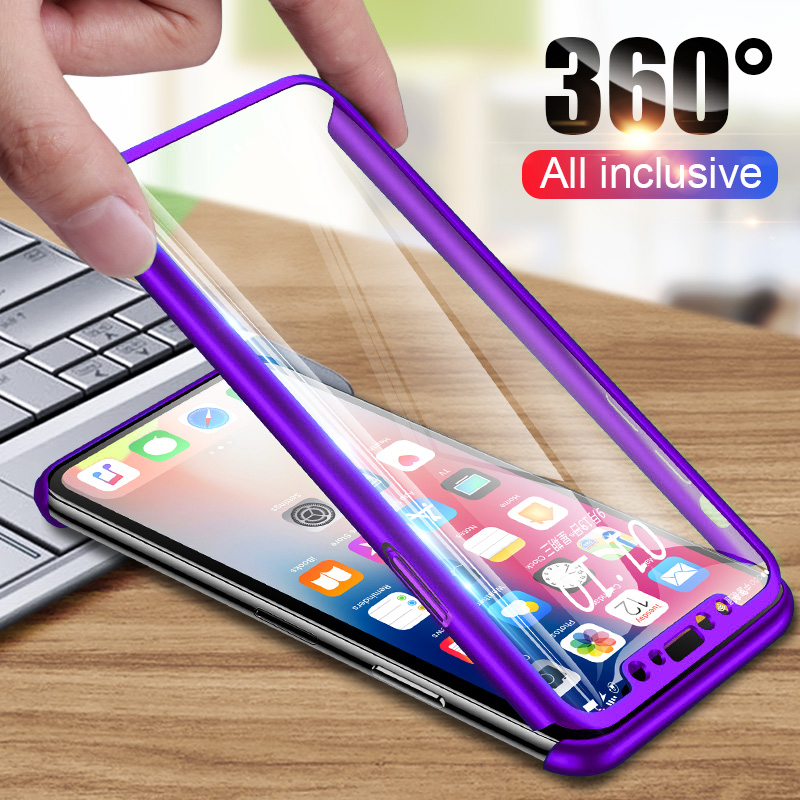 Luxury 360 Protective Phone Cases For IPhone 5 5S SE 6 6S 7 8 Plus 10 Case Shockproof Full Body Cover For IPhone X XS Max XR