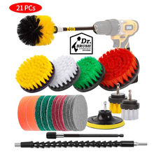 21pcs Cleaning brush Set Bathroom Surfaces Tub Tile and Grout All Purpose Power Scrubber Cleaning Kit Electric Drill Brush