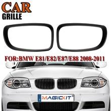 цена на MagicKit Pair Glossy Black Kidney Grill Grille Surrounds Cover For BMW 1 Series 116 118 120 E81 E82 E87 E88 2007-2013