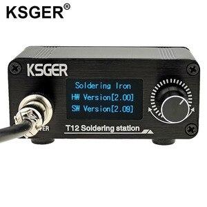 Image 3 - Ksger ミニ T12 はんだステーション diy STM32 V2.0 oled T12 のヒント溶接キット abs プラスチックハンドル亜鉛スタンドクイック加熱