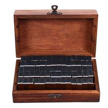 1 Box DIY Wooden Stamps Decorative Alphabet and Number Seal For Scrapbook