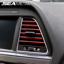 Car Interior Decoration Strip Auto Decorative Mouldings Trim Chrome Styling Stickers Air Outlet Decorative Strip Accessories