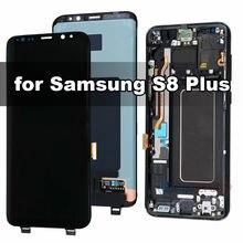Оригинальный amoled ЖК дисплей для samsung galaxy s8 plus g955f