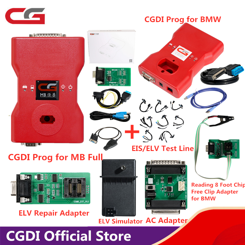 CGDI MB Prog Auto Key Programmer for Mercedes-Benz Support All Key Lost/Add Car Key Fastly/Online Password Calculation