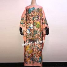 Dresses Clothing Chiffon Floral Party Long Africa Evening Fashion Women Summer Casual