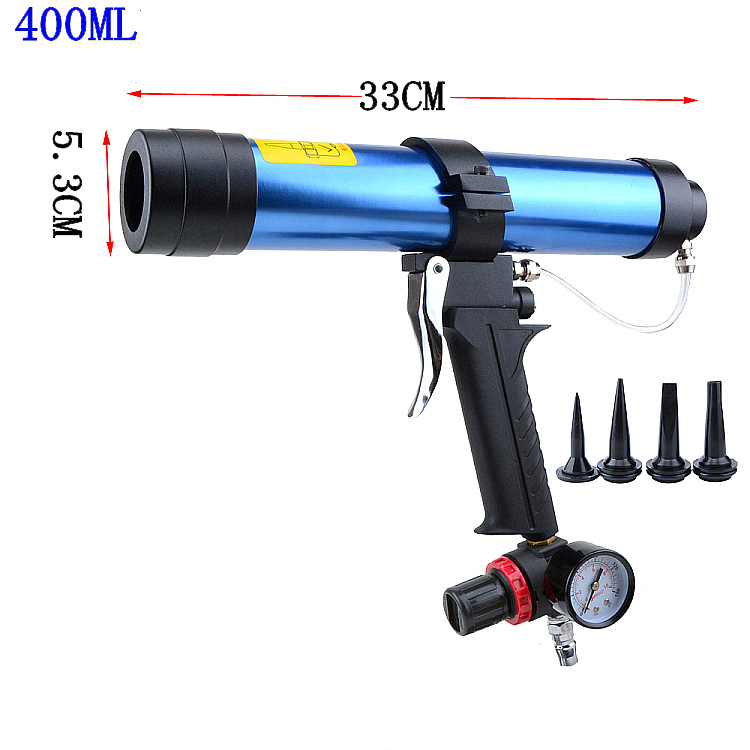 Pneumatic Caulking Gun 400ml Cartridge Gun Paint & Decorating Glass Glue Air Rubber Guns Tools Sealant Finishing Tools